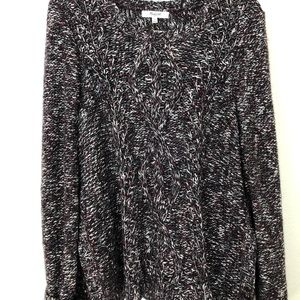 Madewell purple cross-thread Sweater
